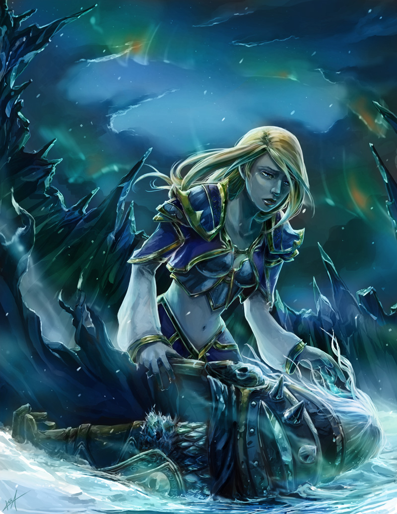 Download sleeping Lady Sylvanas and Jaina Proudmoore  fucks pic